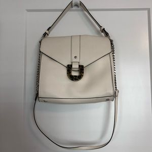 Zara white shoulder bag